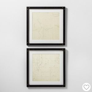 Hearth and Hand Framed Maps